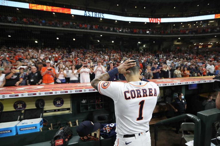 This Is The End Of Carlos Correa In An Astros Jersey